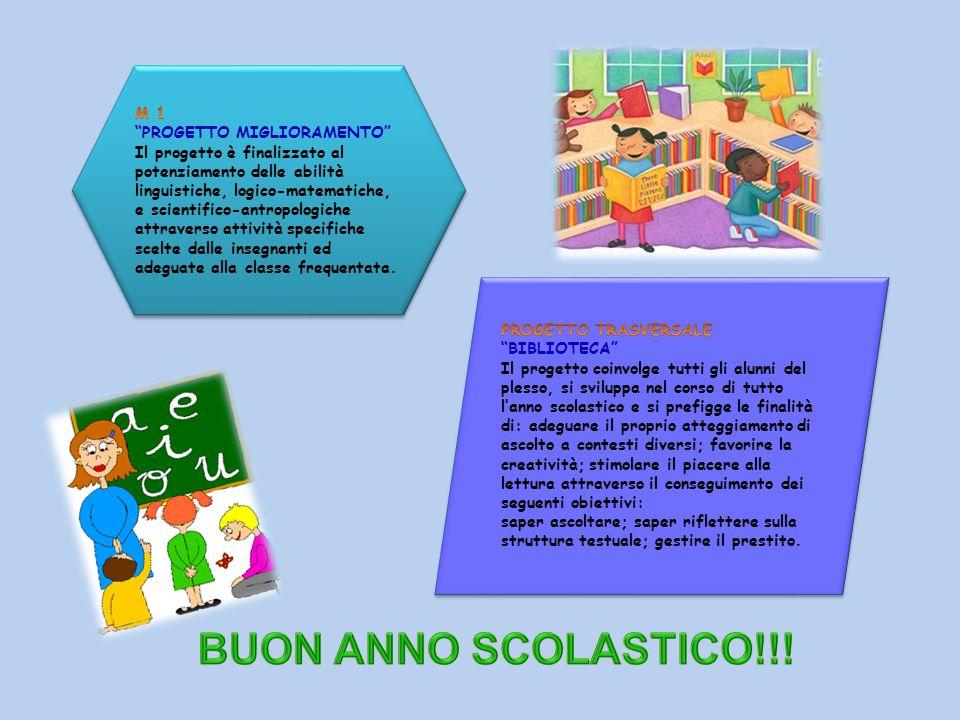BUON ANNO SCOLASTICO!!! M 1 PROGETTO MIGLIORAMENTO