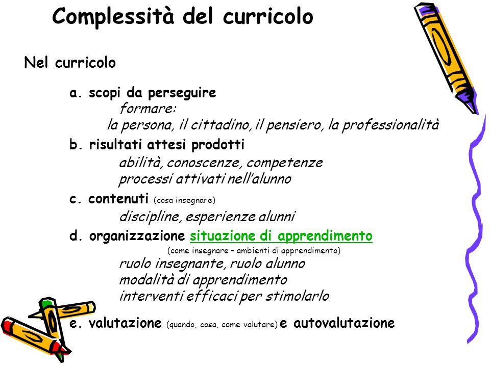 Complessità del curricolo