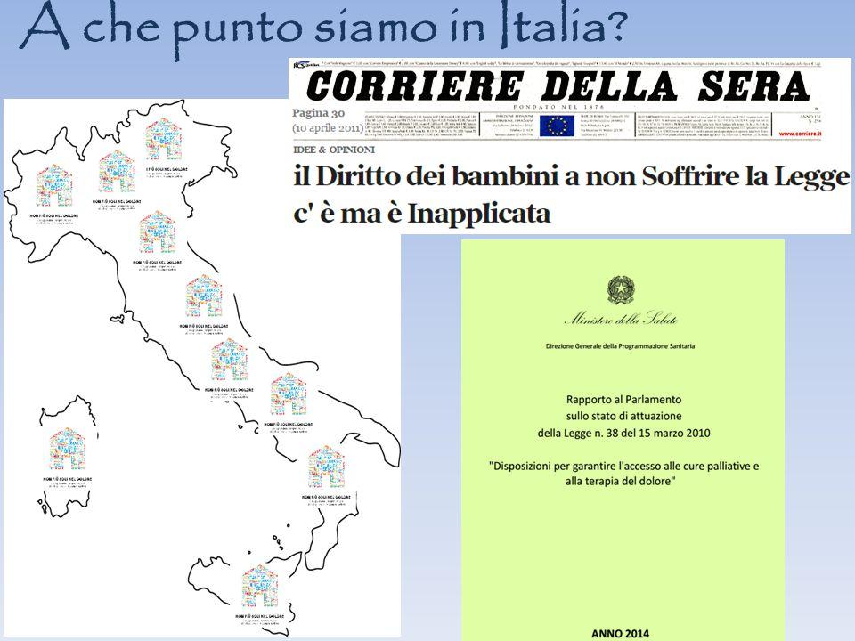 A che punto siamo in Italia