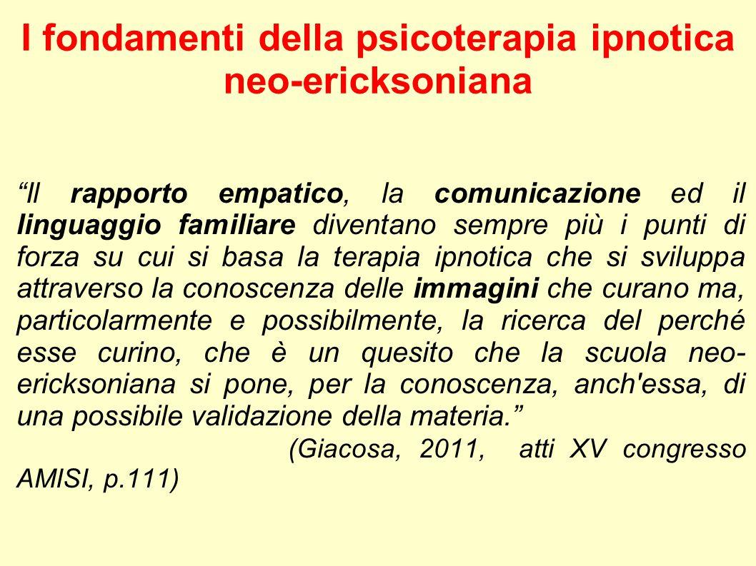 I fondamenti della psicoterapia ipnotica neo-ericksoniana