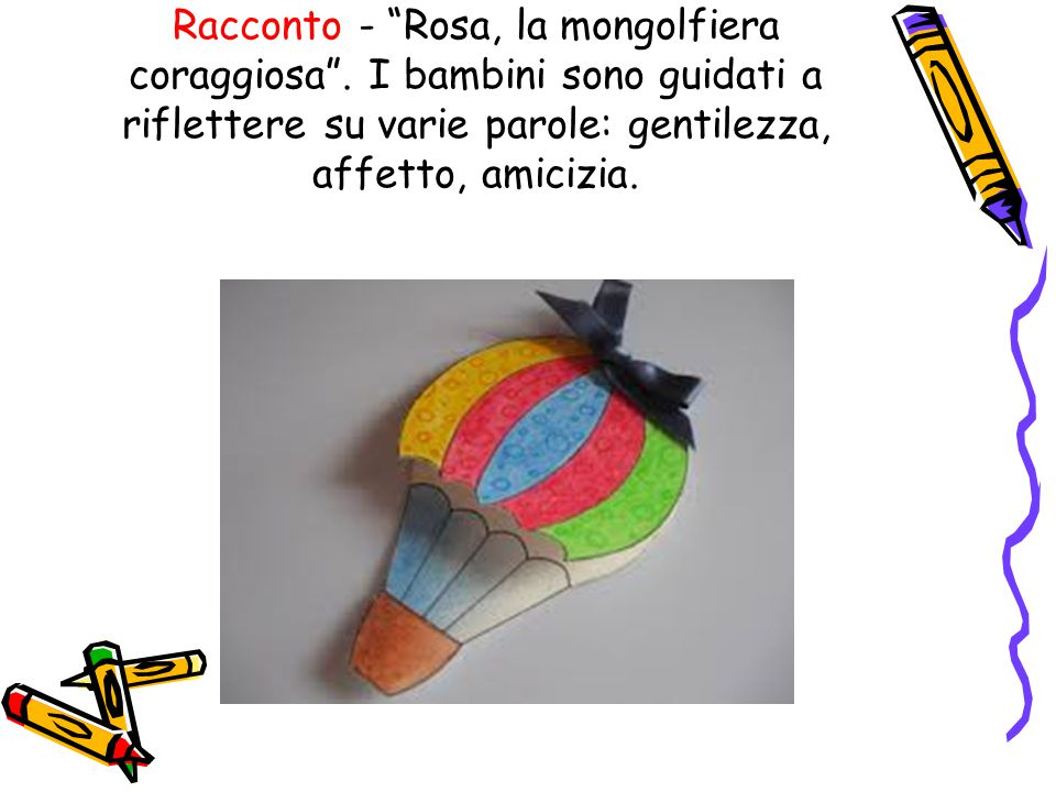 Racconto - Rosa, la mongolfiera coraggiosa