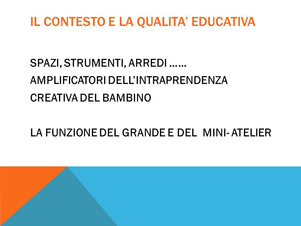 IL CONTESTO E LA QUALITA' EDUCATIVA