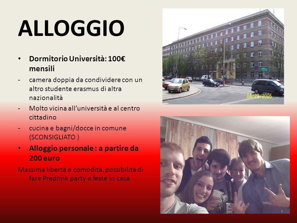 ALLOGGIO Dormitorio Università: 100€ mensili