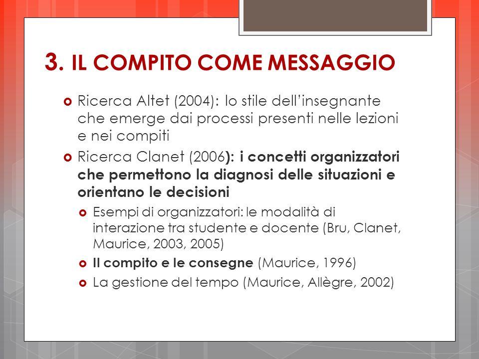 3. IL COMPITO COME MESSAGGIO