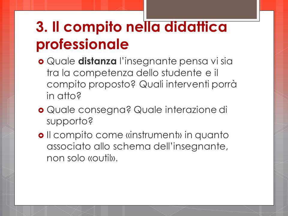 3. Il compito nella didattica professionale