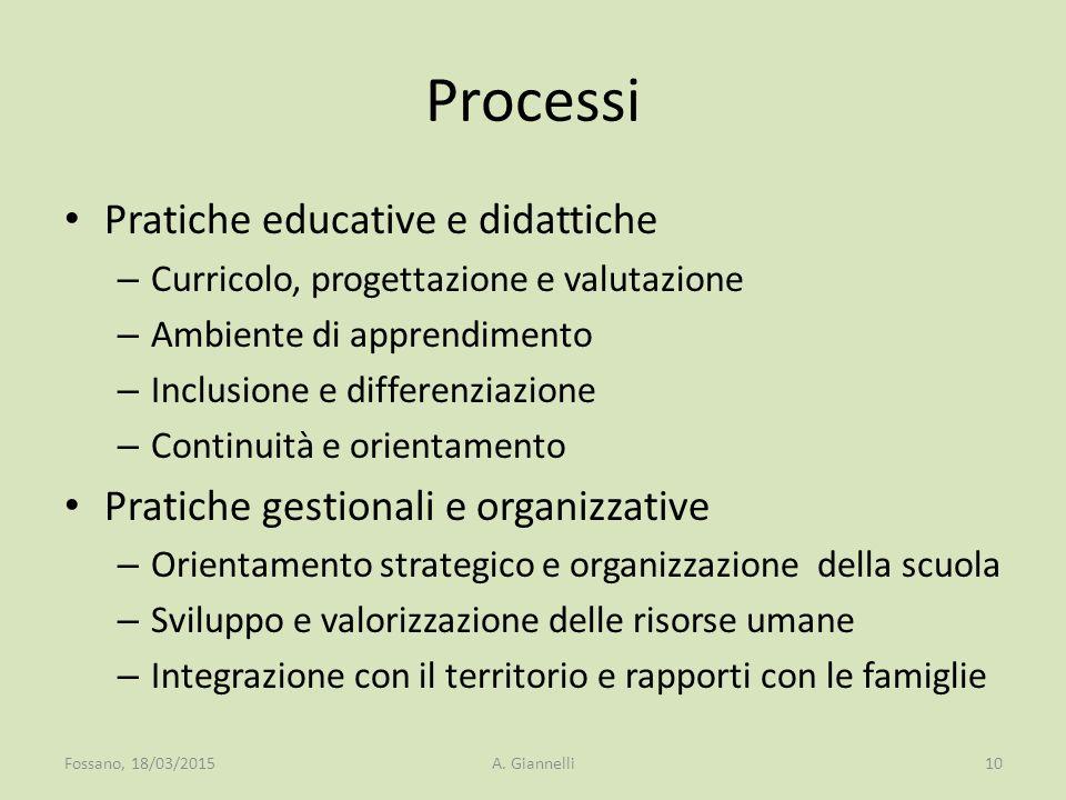 Processi Pratiche educative e didattiche