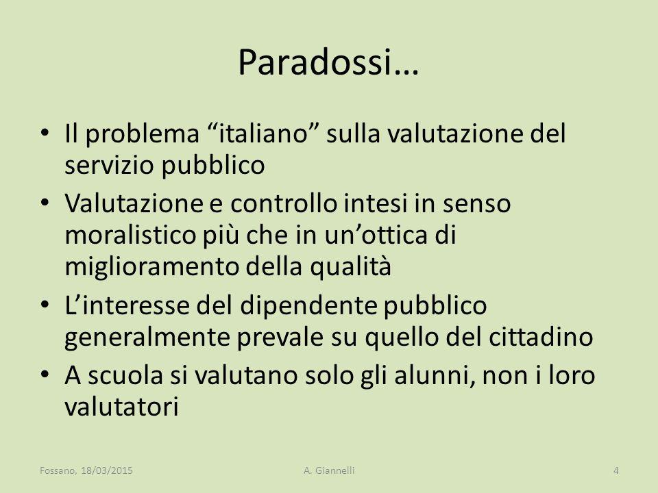 Paradossi… Il problema italiano sulla valutazione del servizio pubblico.