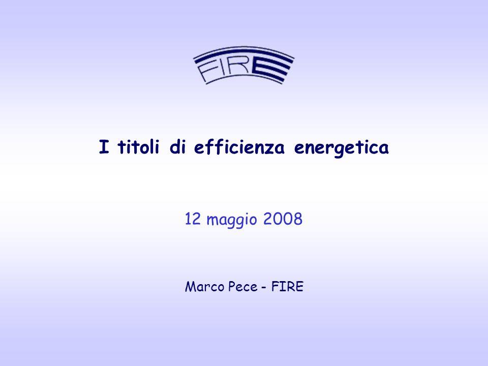 I titoli di efficienza energetica