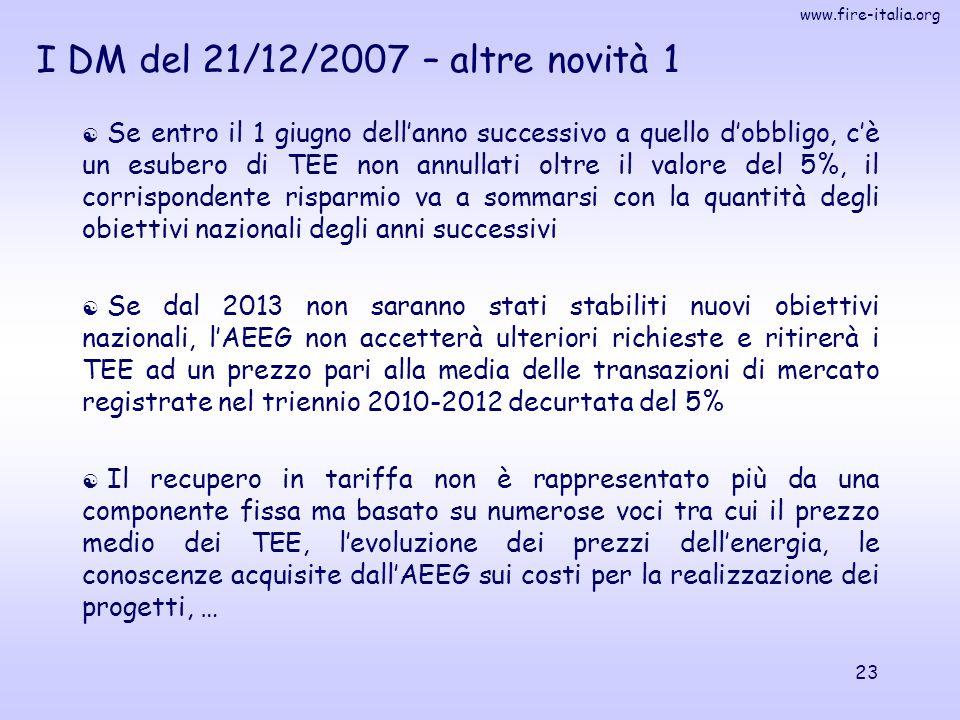 I DM del 21/12/2007 – altre novità 1