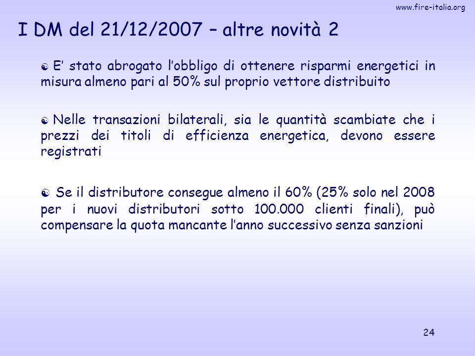 I DM del 21/12/2007 – altre novità 2