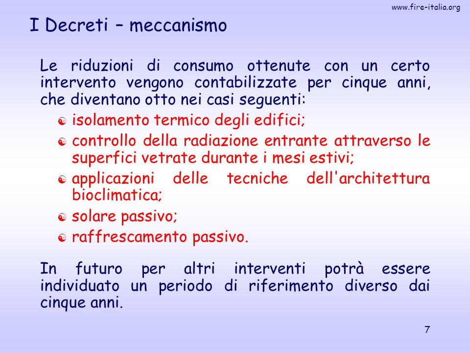 I Decreti – meccanismo