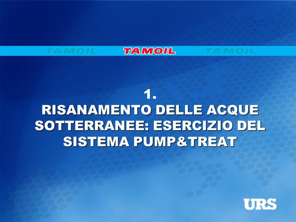 1. RISANAMENTO DELLE ACQUE SOTTERRANEE: ESERCIZIO DEL SISTEMA PUMP&TREAT