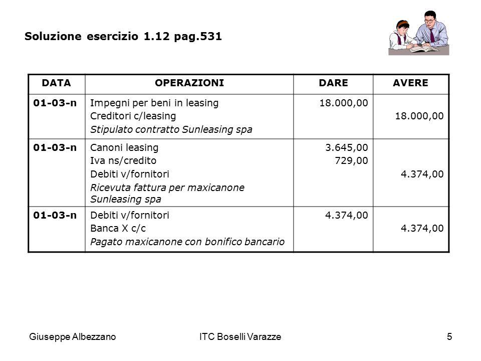 Soluzione esercizio 1.12 pag.531