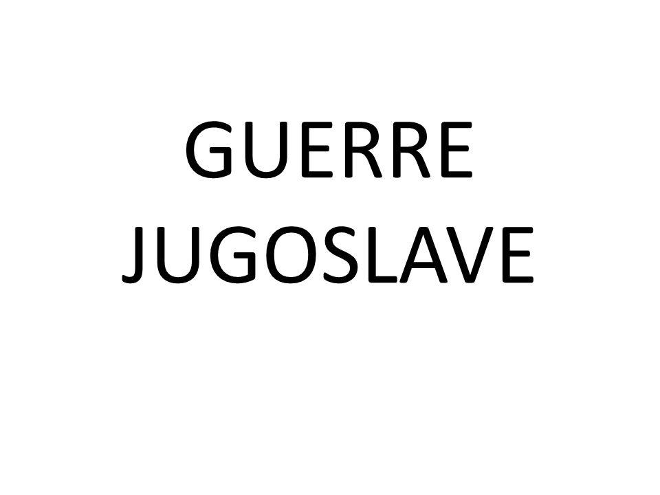 GUERRE JUGOSLAVE