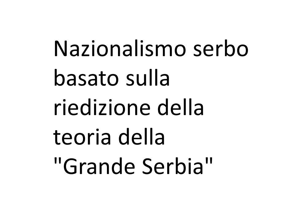 Nazionalismo serbo basato sulla riedizione della teoria della Grande Serbia