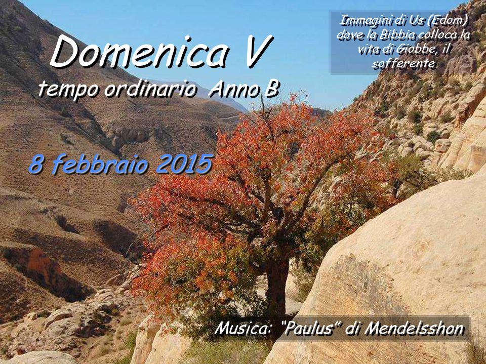 Domenica V 8 febbraio 2015 tempo ordinario Anno B