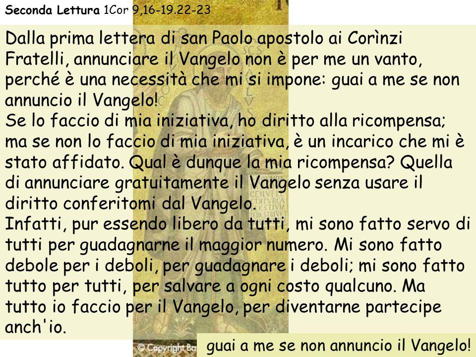 Dalla prima lettera di san Paolo apostolo ai Corìnzi
