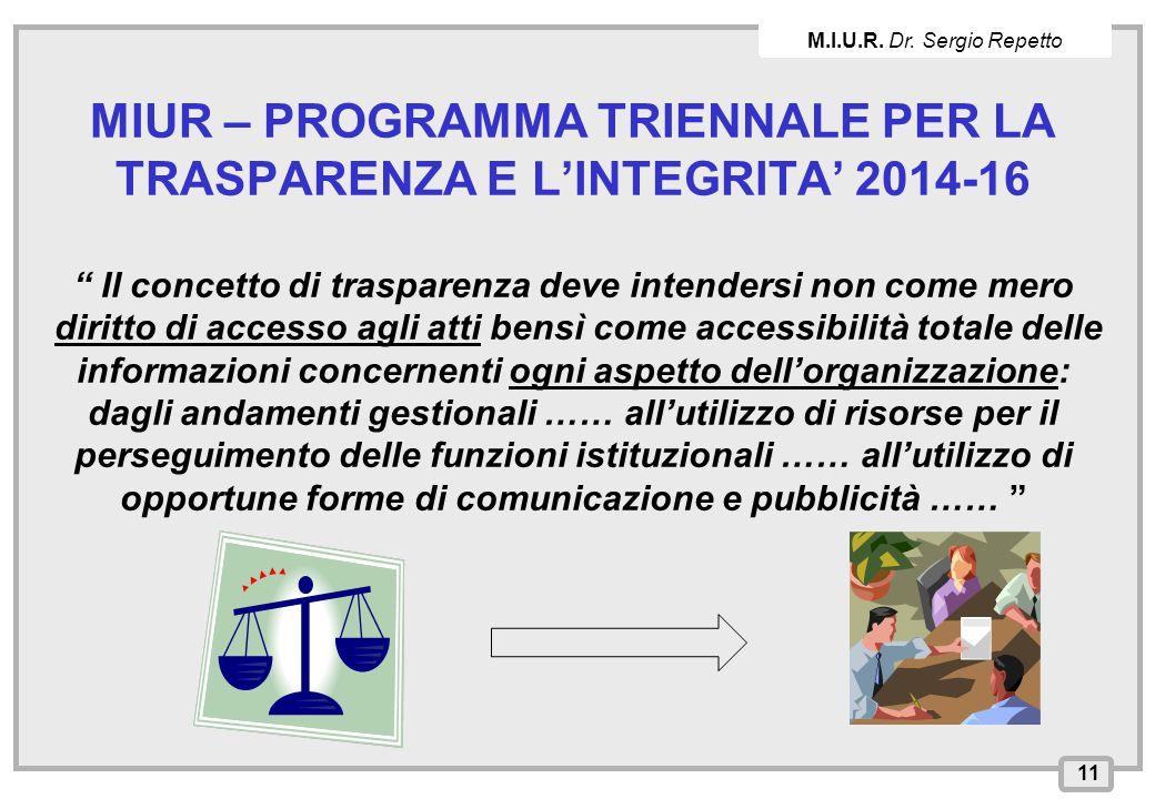 M.I.U.R. Dr. Sergio Repetto