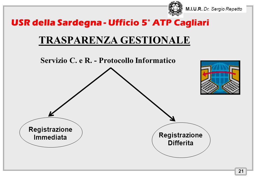 Servizio C. e R. - Protocollo Informatico