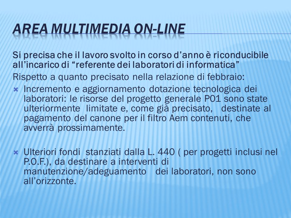 AREA Multimedia on-line