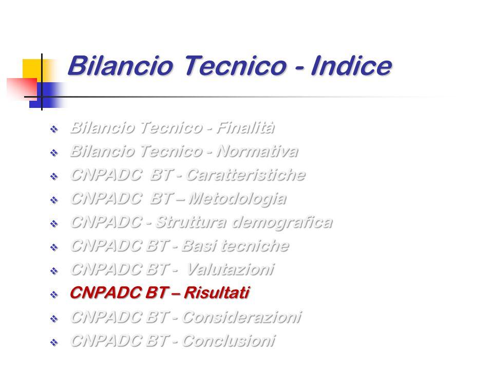 Bilancio Tecnico - Indice