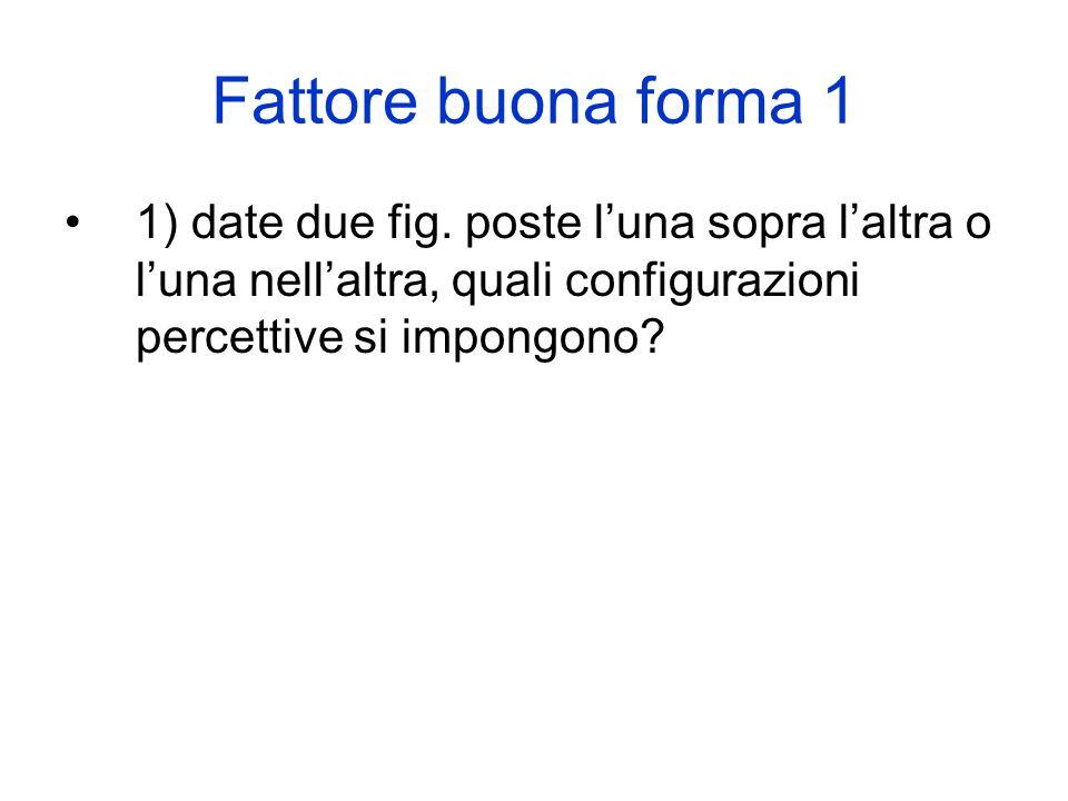 Fattore buona forma 1 1) date due fig.