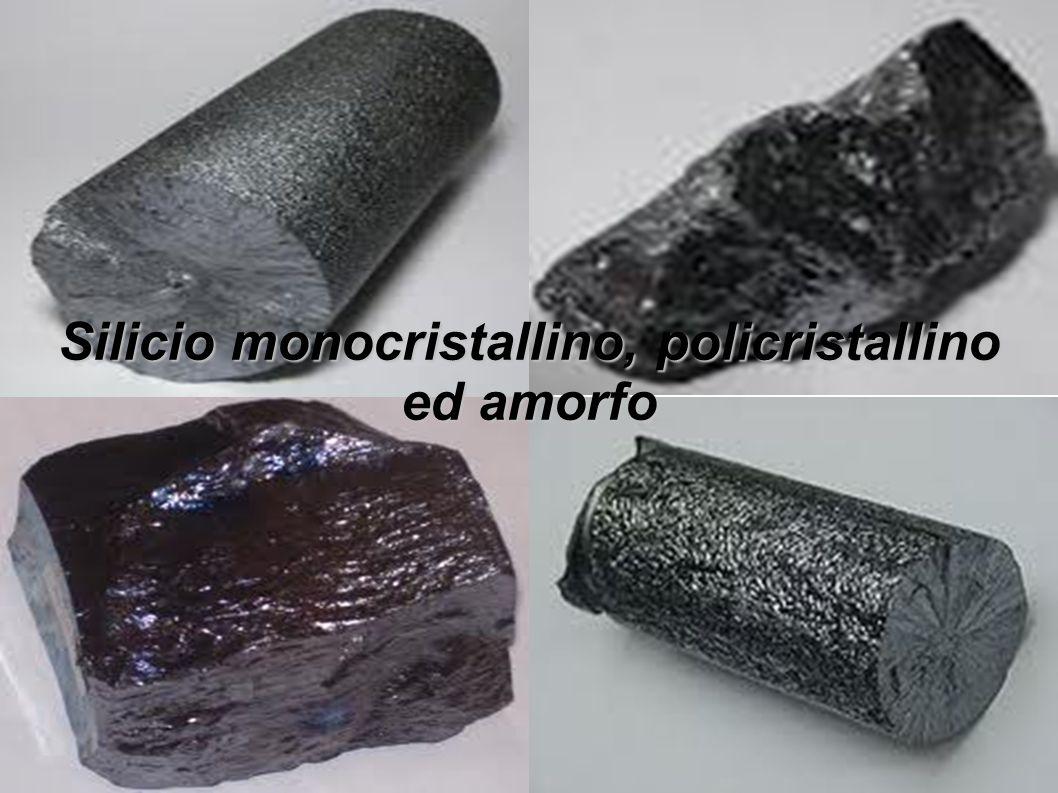 Silicio monocristallino, policristallino ed amorfo