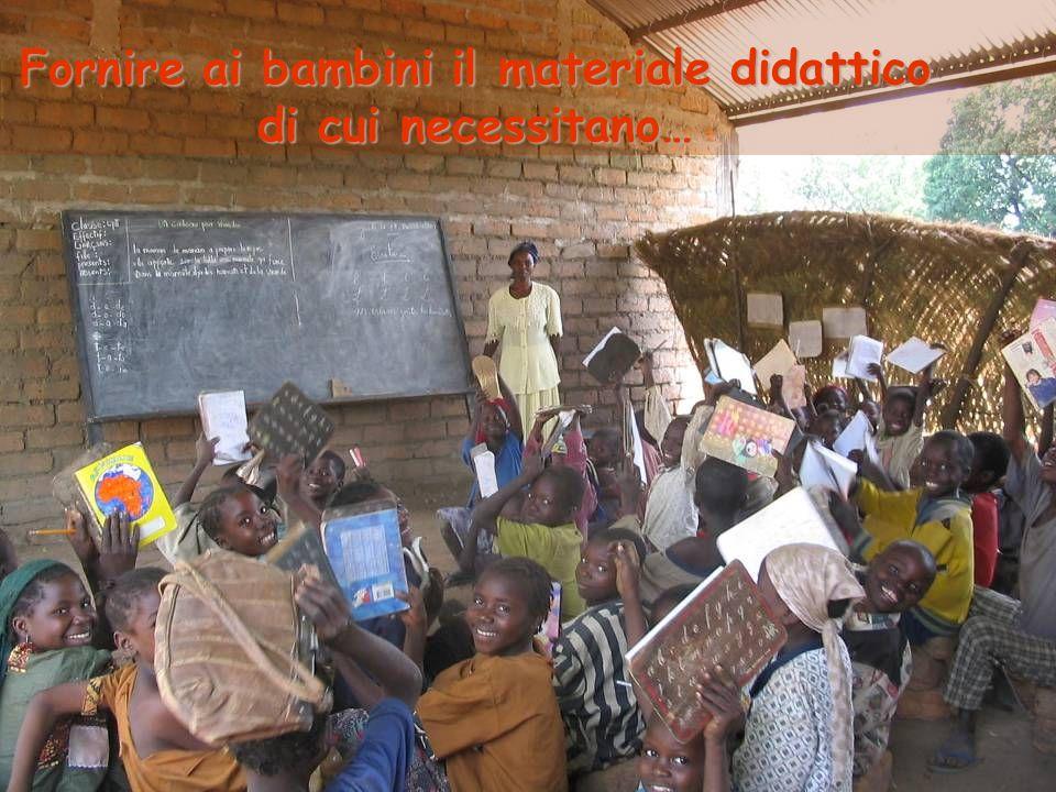 Fornire ai bambini il materiale didattico di cui necessitano…