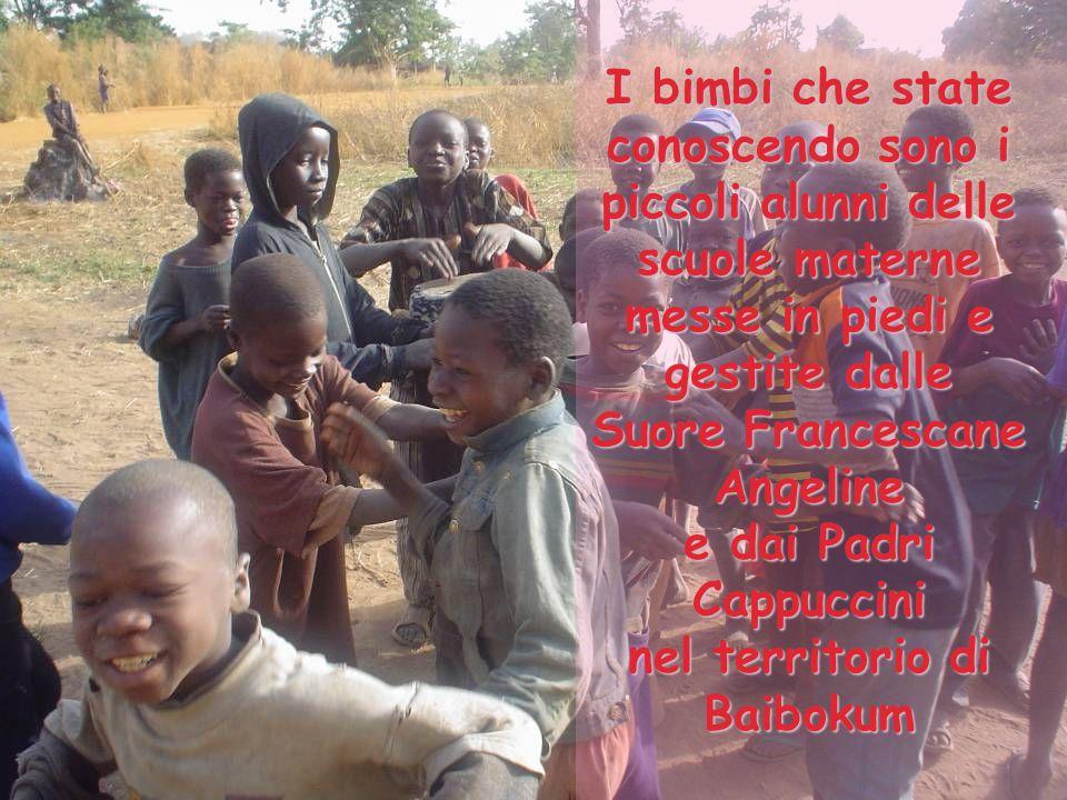 I bimbi che state conoscendo sono i piccoli alunni delle scuole materne messe in piedi e gestite dalle Suore Francescane Angeline e dai Padri Cappuccini nel territorio di Baibokum