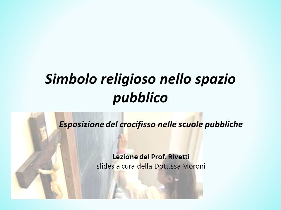 Simbolo religioso nello spazio pubblico