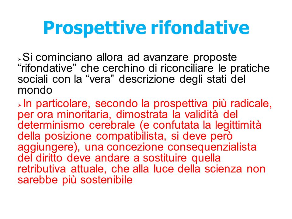 Prospettive rifondative