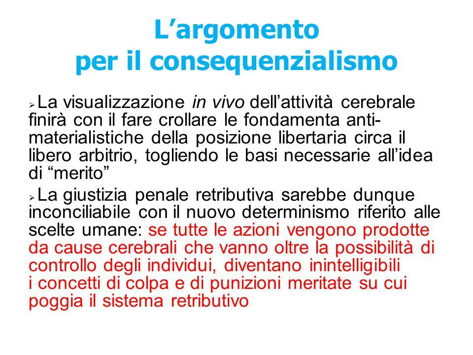 L'argomento per il consequenzialismo