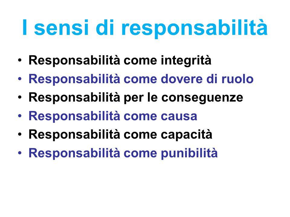 I sensi di responsabilità