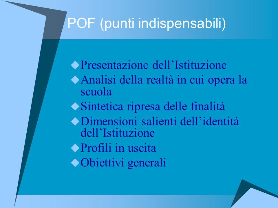 POF (punti indispensabili)
