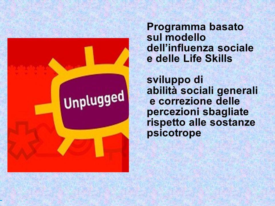 Programma basato sul modello. dell'influenza sociale. e delle Life Skills. sviluppo di. abilità sociali generali.