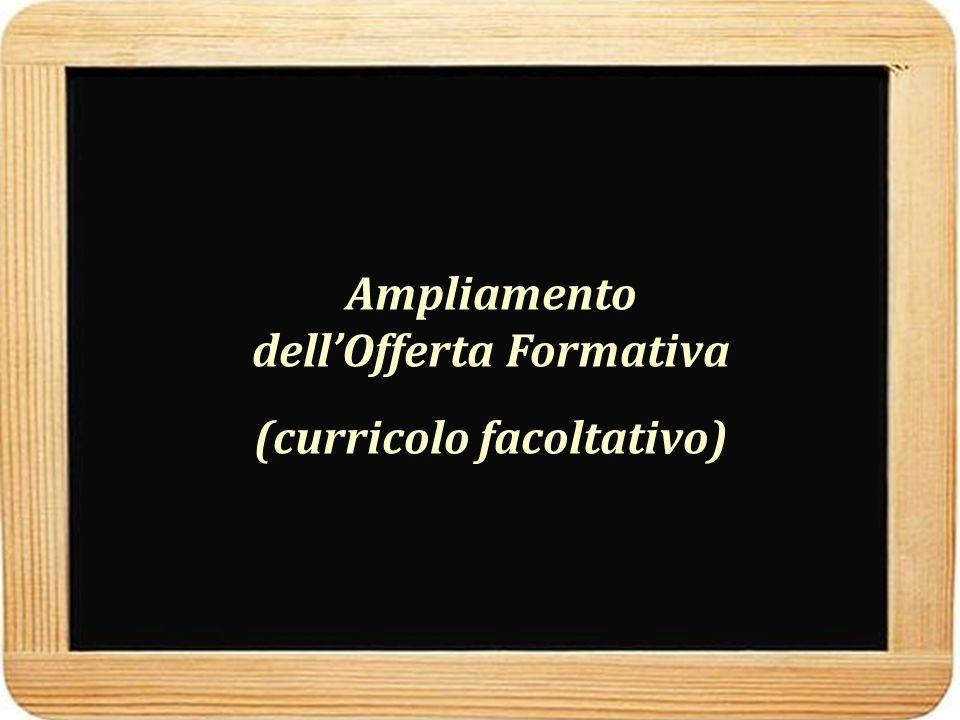 Ampliamento dell'Offerta Formativa (curricolo facoltativo)