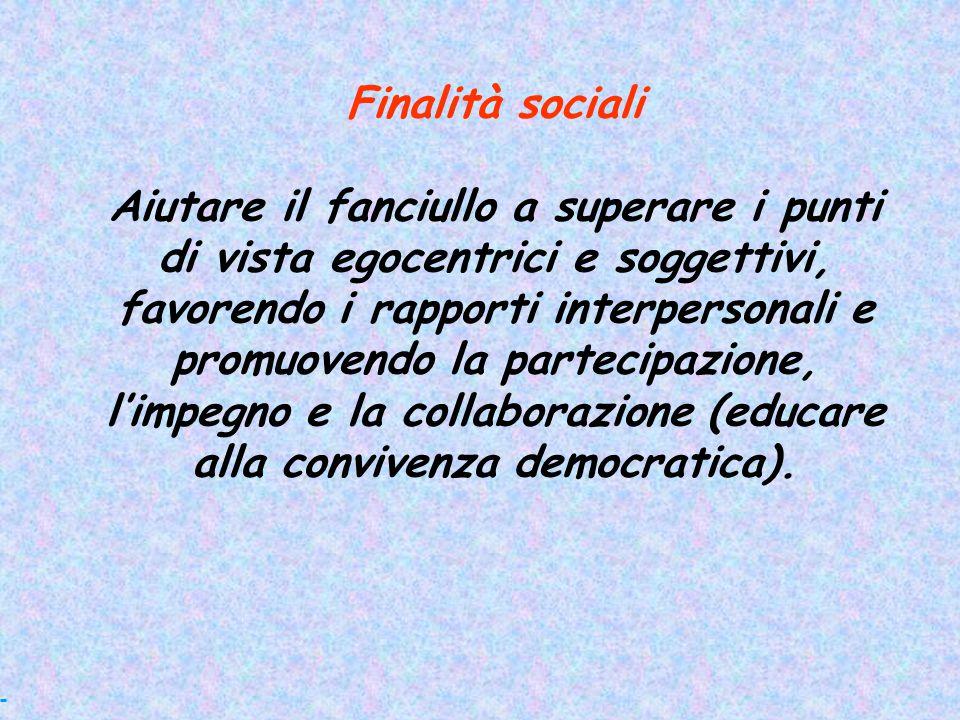 Finalità sociali