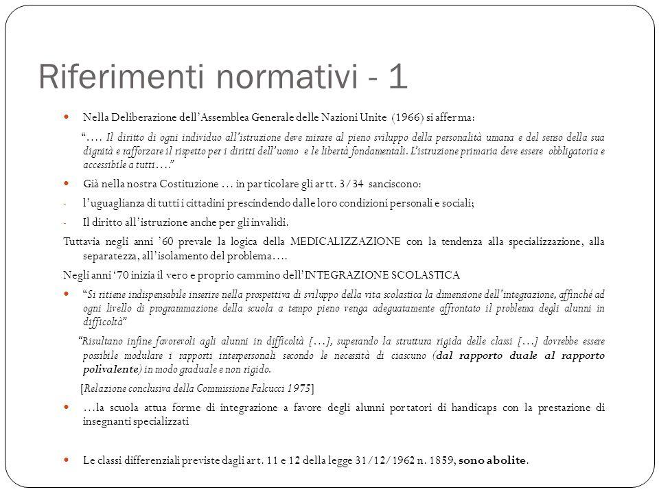 Riferimenti normativi - 1