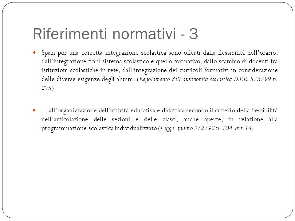 Riferimenti normativi - 3