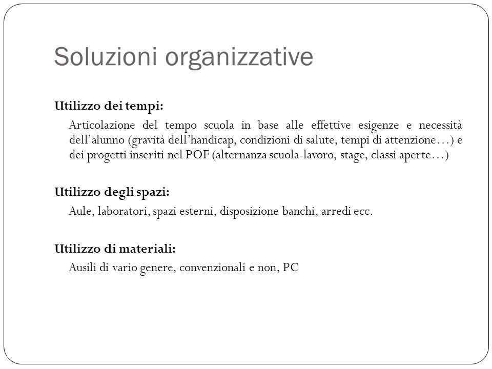 Soluzioni organizzative