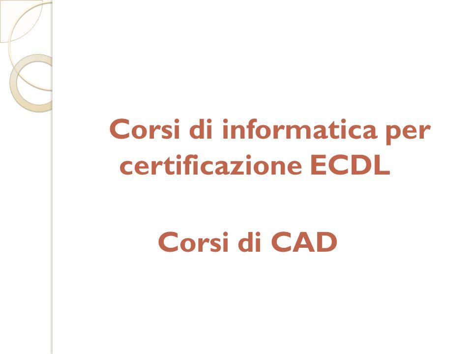 Corsi di informatica per certificazione ECDL