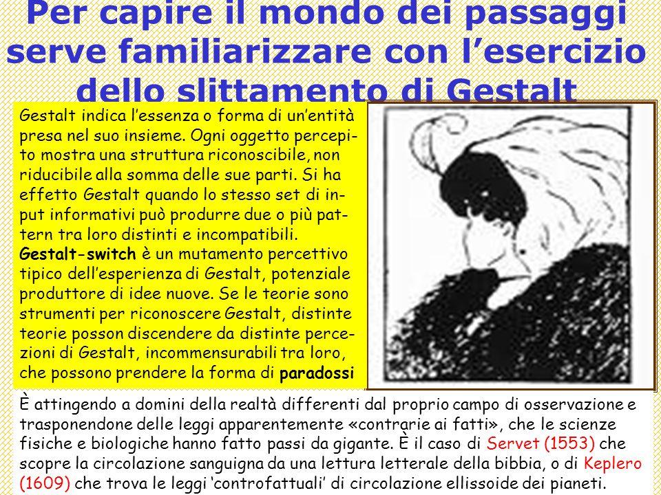 Per capire il mondo dei passaggi serve familiarizzare con l'esercizio dello slittamento di Gestalt