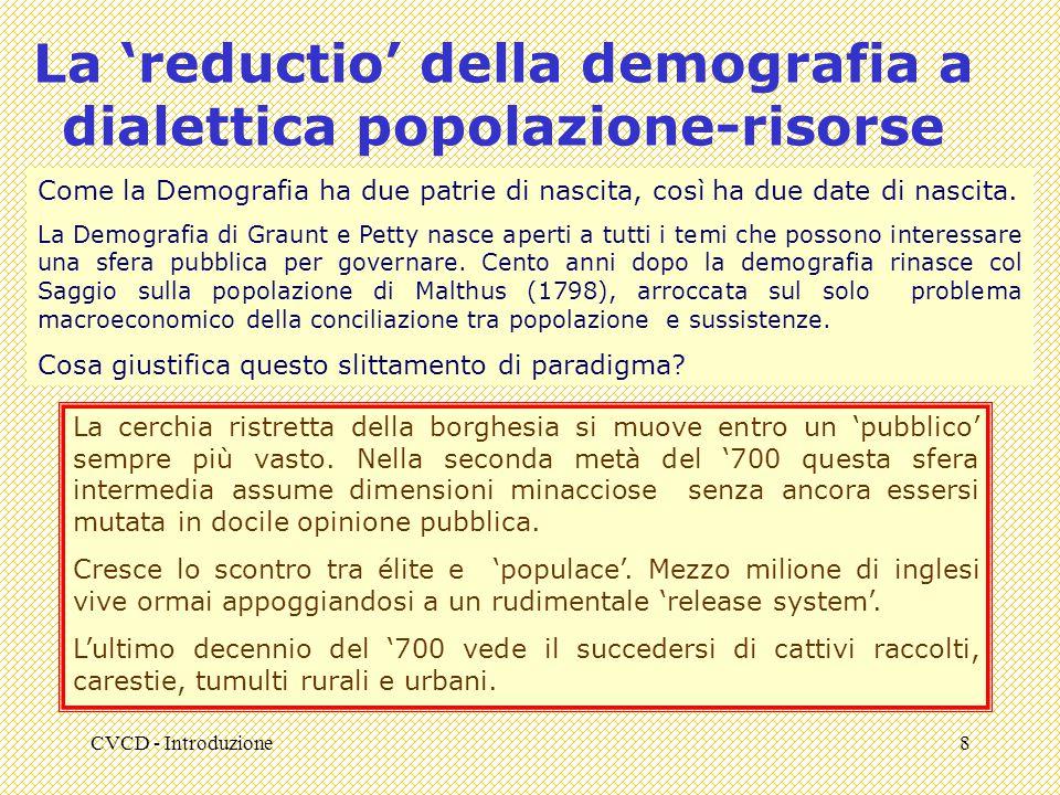 La 'reductio' della demografia a dialettica popolazione-risorse