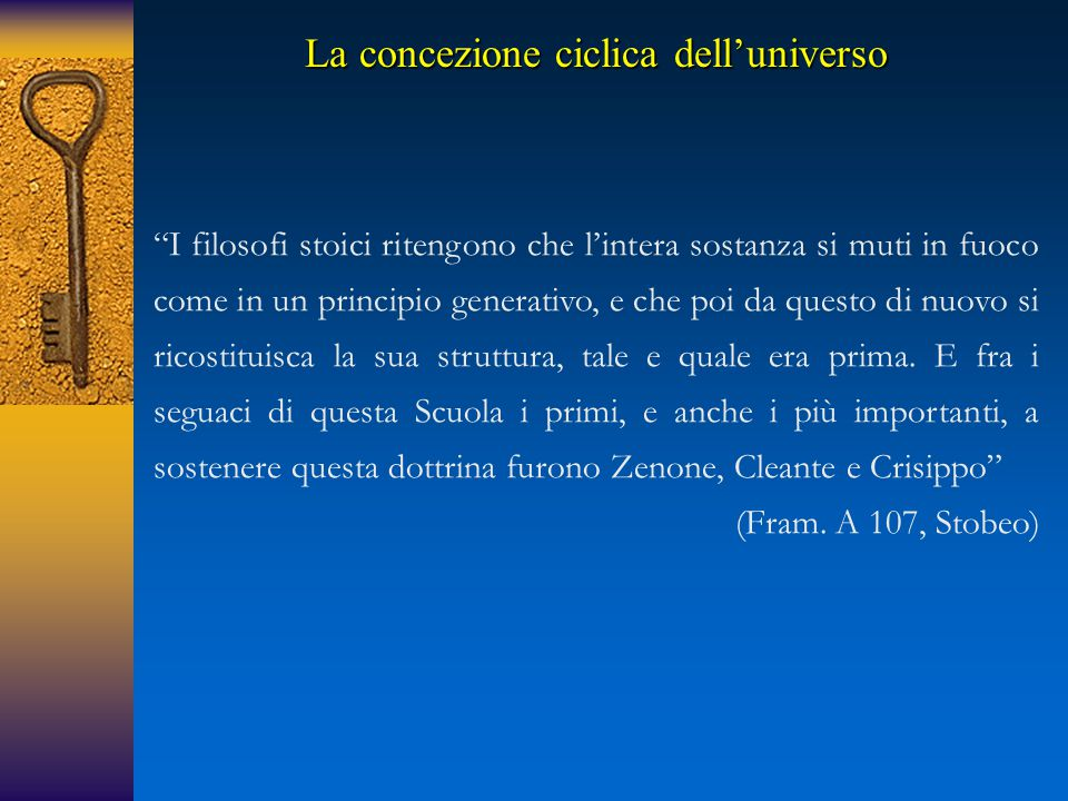La concezione ciclica dell'universo