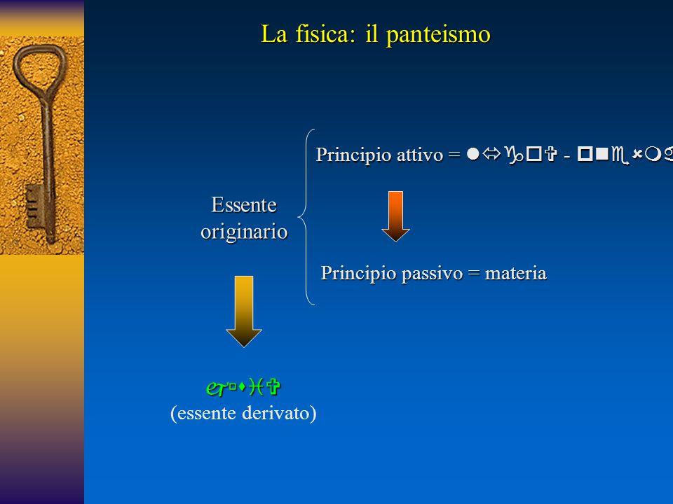 La fisica: il panteismo