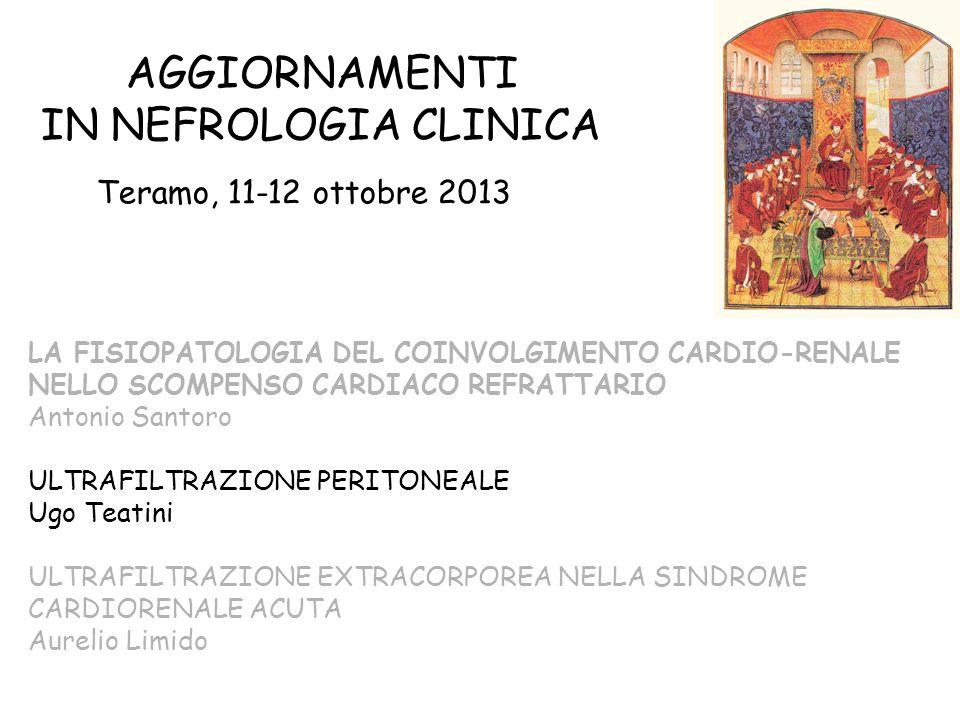 AGGIORNAMENTI IN NEFROLOGIA CLINICA Teramo, 11-12 ottobre 2013