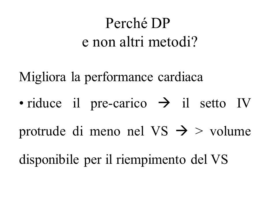 Perché DP e non altri metodi Migliora la performance cardiaca