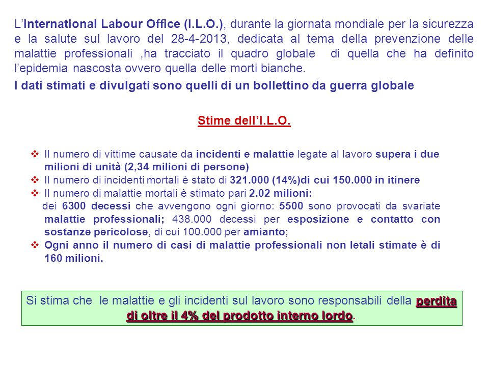 L'International Labour Office (I. L. O