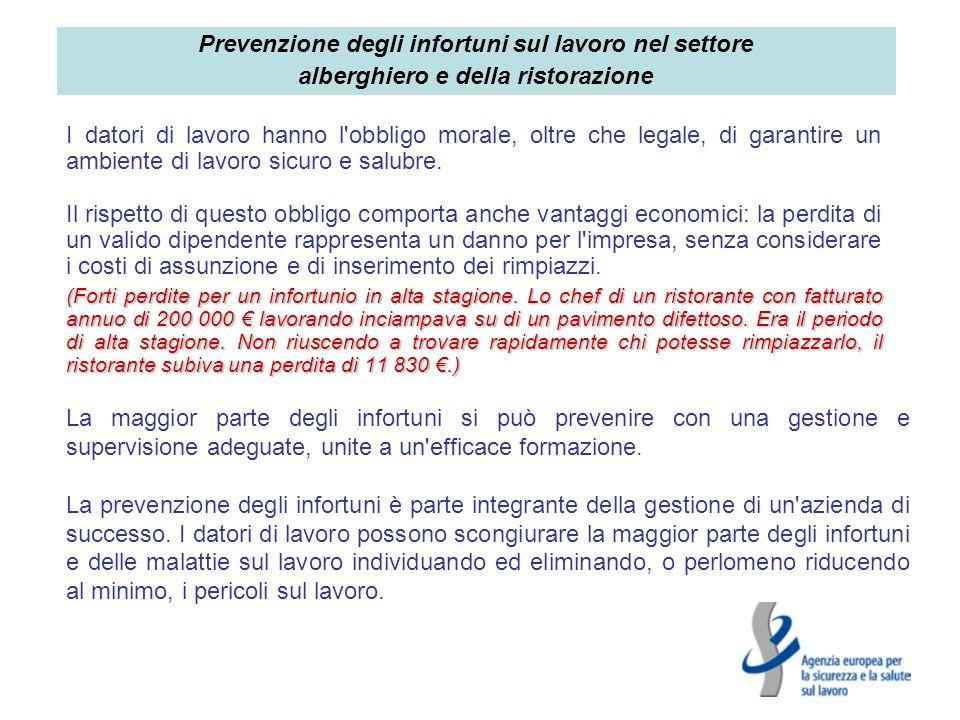 Prevenzione degli infortuni sul lavoro nel settore