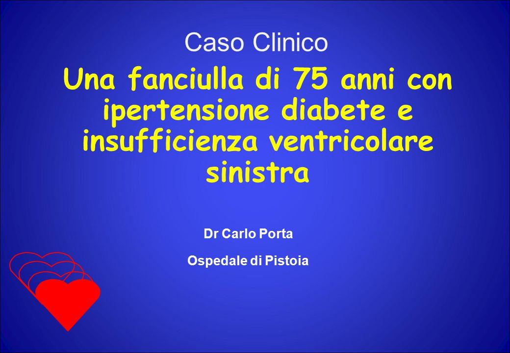 Caso Clinico Una fanciulla di 75 anni con ipertensione diabete e insufficienza ventricolare sinistra.